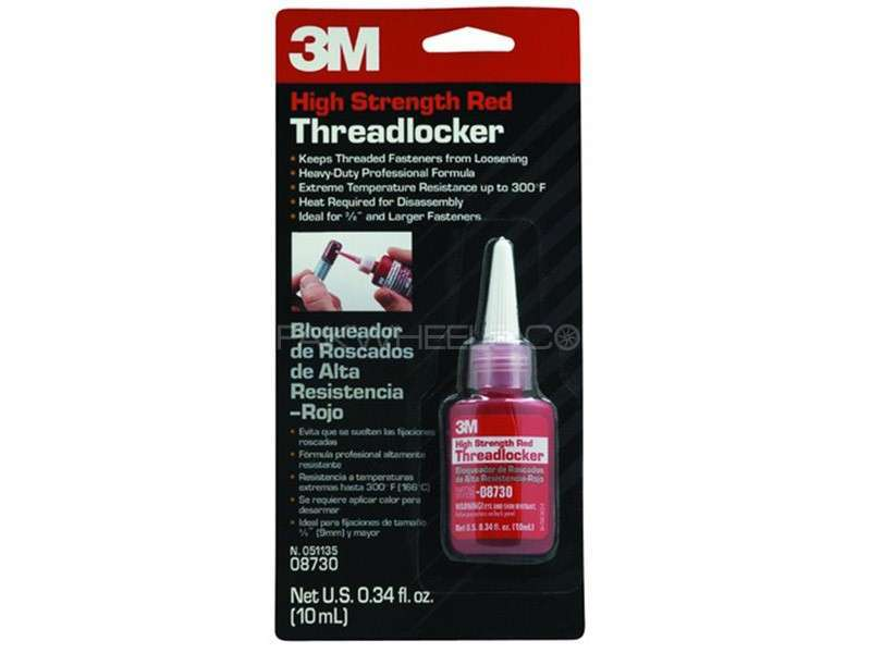 3M™ 08730 Ultra High Strength Threadlock 10 ML RED GUMBY Image-1