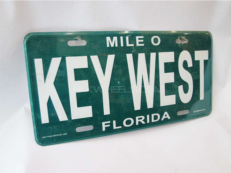Number Plate - KEY WEST  Image-1