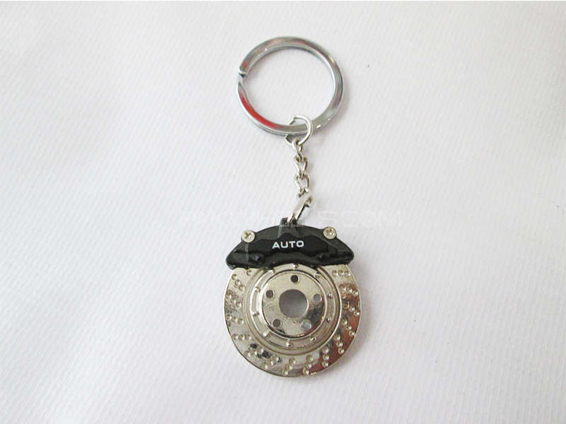 Key Chain - Disk Rotor Black Image-1