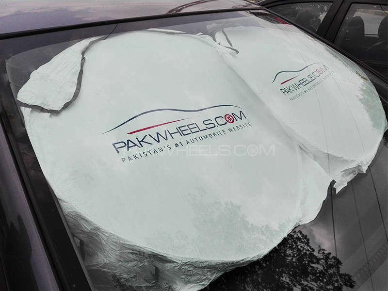 PakWheels Dupont USA Car Front Sun Shade Image-1