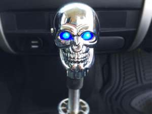 Gear Knob - Skull Chrome With LED - PA10 in Lahore