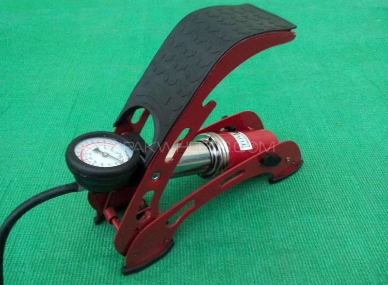 Imported Big Cylinder Foot Air Pump For Car & Bike Inflator Image-1