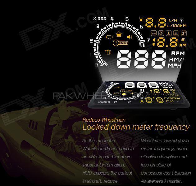 """HUD Car 5.5"""" Head Up Display Bright LCD OBD2 CARS """"W02"""" Image-1"""