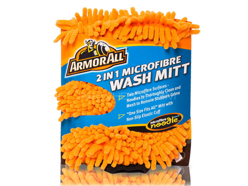 ARMORALL 2 in 1 Microfibre Noodle Wash Mitt  Image-1