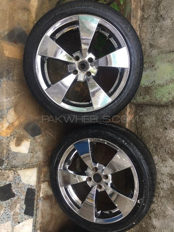 "17"" Japan chrome rim tyres  Image-1"