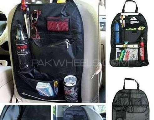 Back Car Seat Organizer Holder Multi-pocket Travel Image-1
