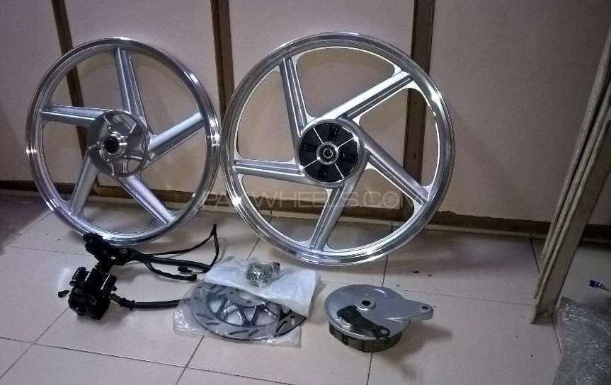 Brand new box pack with complete kit alloy rims for Gs-150 Image-1