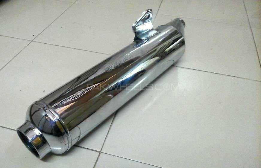 Original Suzuki Gs-150 exhaust muffler Image-1