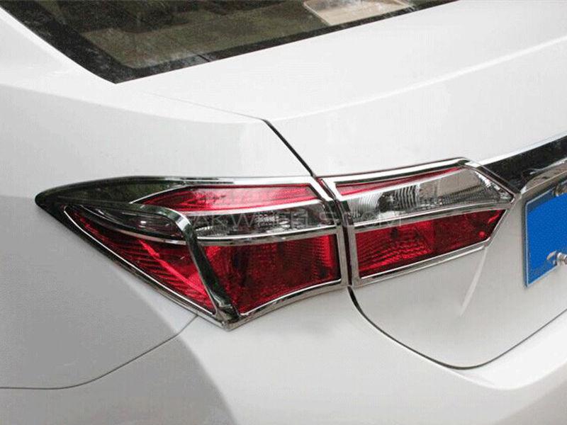 Toyota Corolla ABS Chrome Set Headlight Tail light Chrome For  2014-2016 Image-1