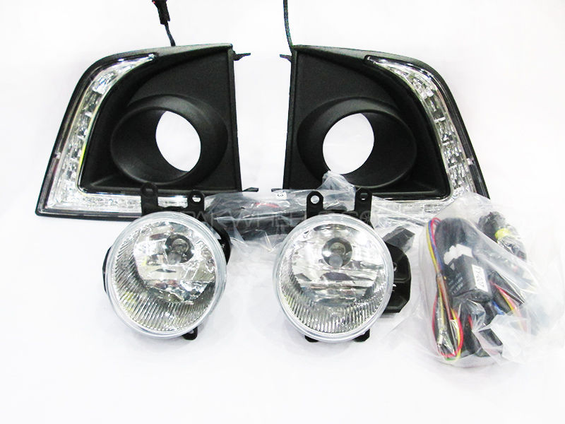 Corolla 2015 LED Fog Light Cover With Fog Lights - Without indicators in Lahore