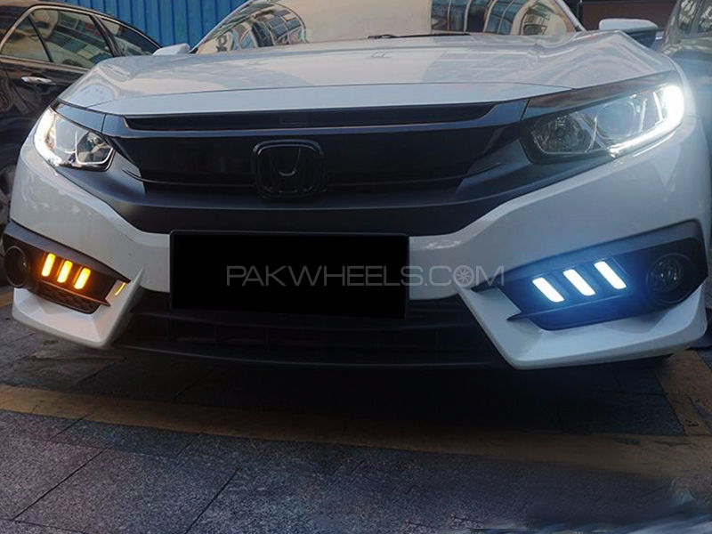 Honda Civic 2016 Mustang Style DRL Fog Light Covers - Parts & Accessories 2263894   PakWheels