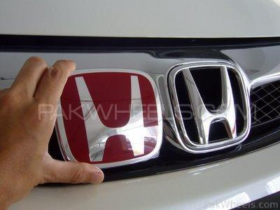 Honda Front Grill Logo Red in Lahore