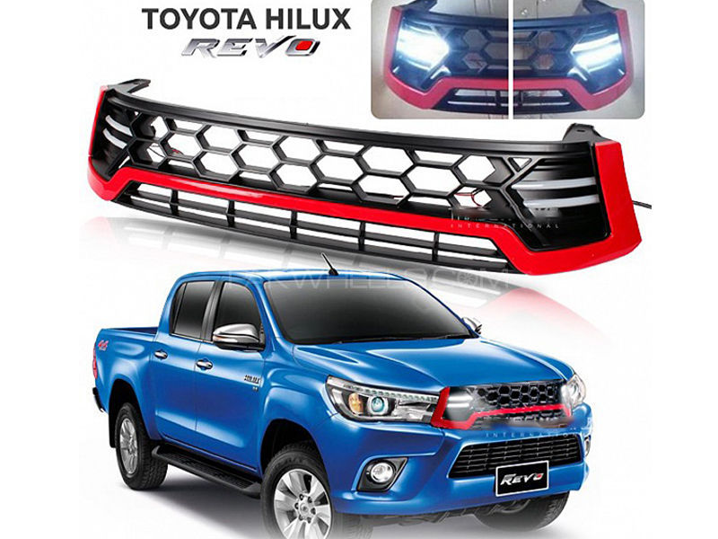 HILUX REVO SPORTY LED DRL FRONT GRILL in Lahore