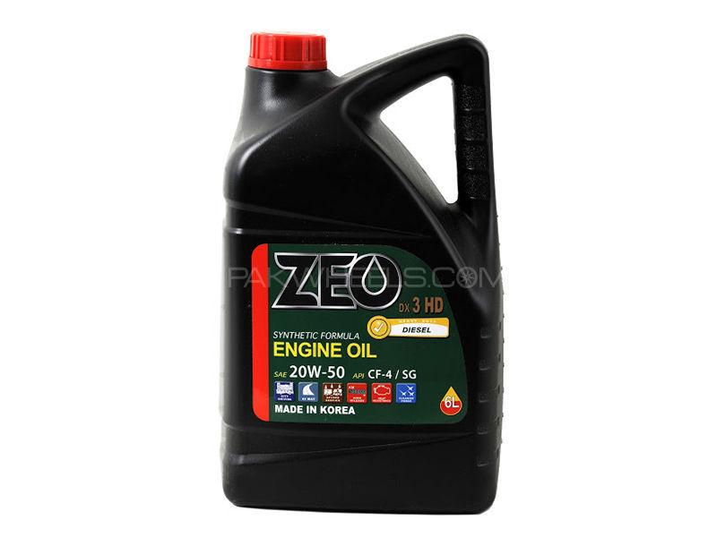 ZEO 6Ltr Synthetic Formula Diesel Engine Oil - DX3 HD 20W50 CF4/SG Image-1
