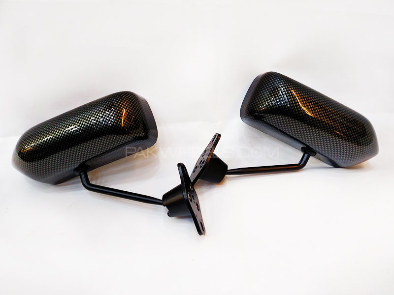 Universal Side Mirror Carbon Fiber in Lahore