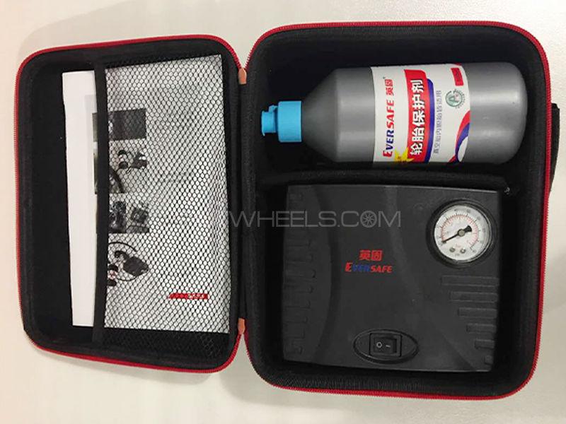 Tyre Care Kit (1 Air Compressor + 1 Puncture Free Liquid) in Lahore