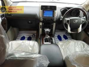 TOYOTA PRADO 2012 TZG  PEARL WITH BEIGE ORGINAL TV FOUR CAMS  SUNROOF  LEATHER POWER SEATS  FULL HOUSE NO MINUS OPTION  4,5 GRADE