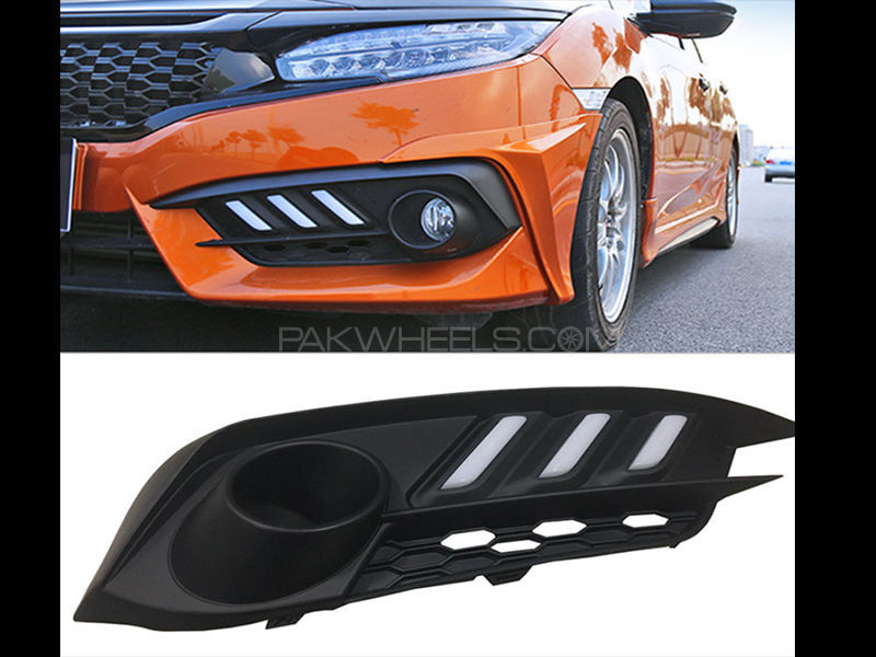Honda Civic 2017 New Mustang Style DRL Covers Image-1