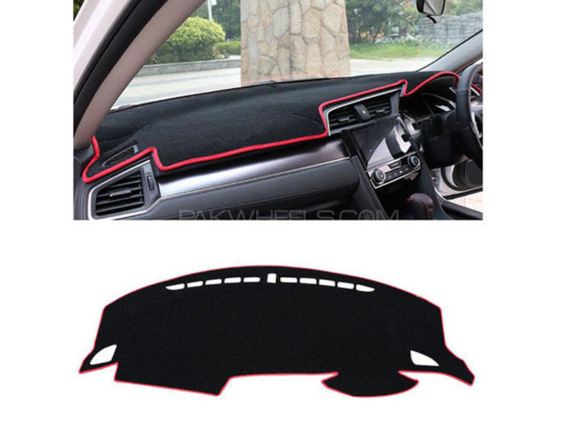 Honda Civic 2017 Dashboard Mat With Red Borders in Lahore