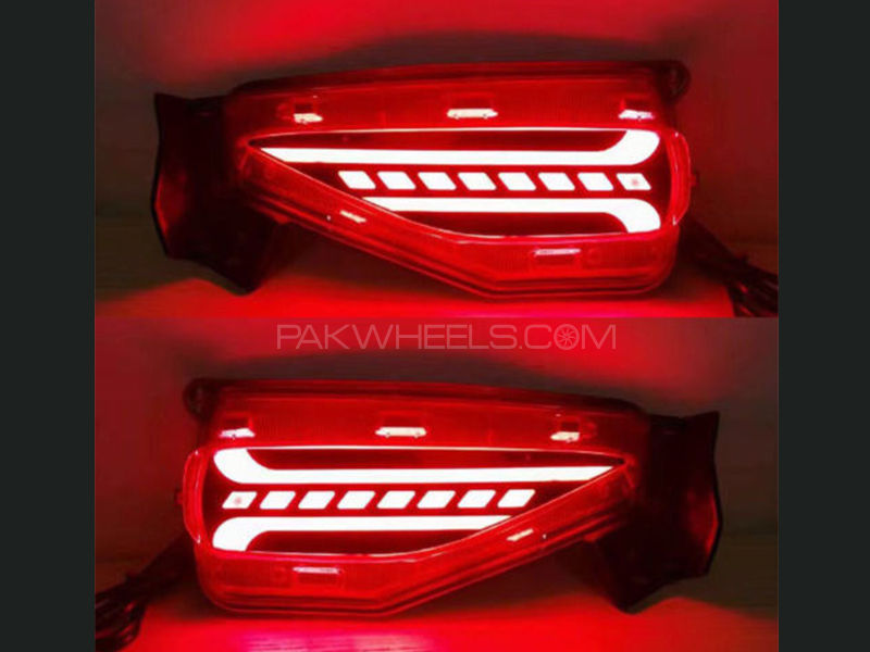 Honda Civic X Rear Lava Style DRL Reflectors - 2016 - 2019 Image-1