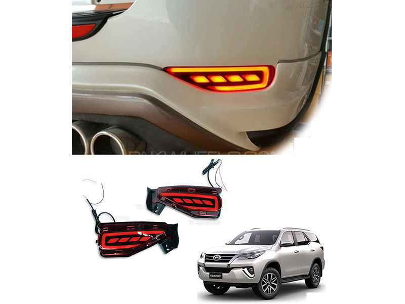 Toyota Fortuner Rear Bumper DRL Set For 2016-2020 in Lahore