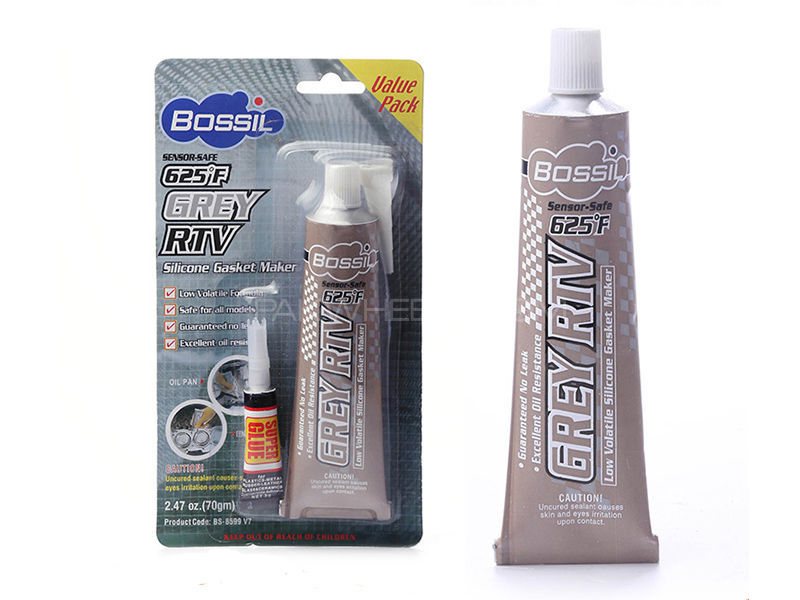 Bossil Grey RTV - Acetic Silicon Gasket Maker - 32 gm Image-1