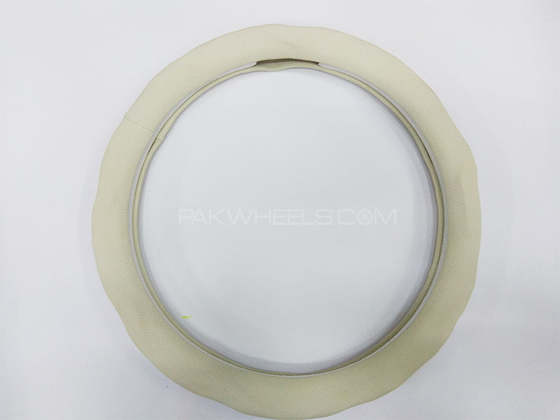 Universal Car Steering Cover - White Dot in Lahore