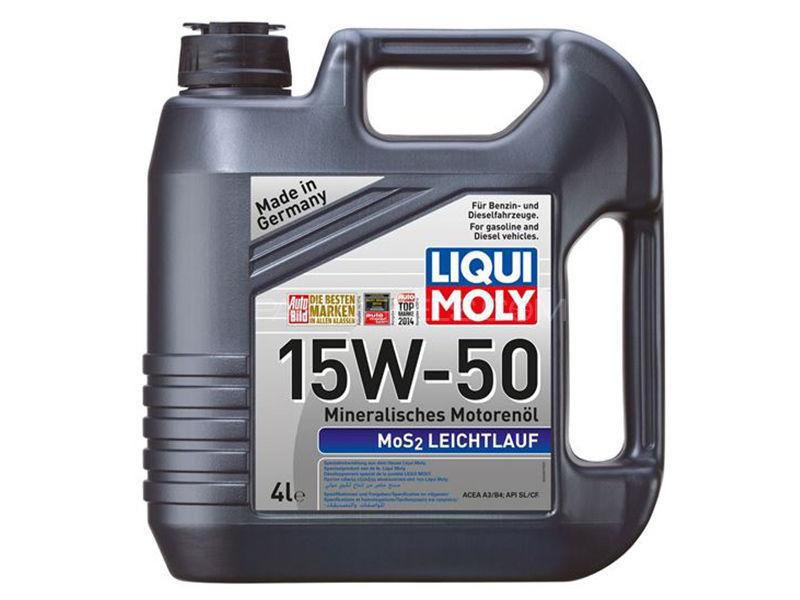 LIQUI MOLY Mos2 15w-50 API-SL - 4 Litre Image-1