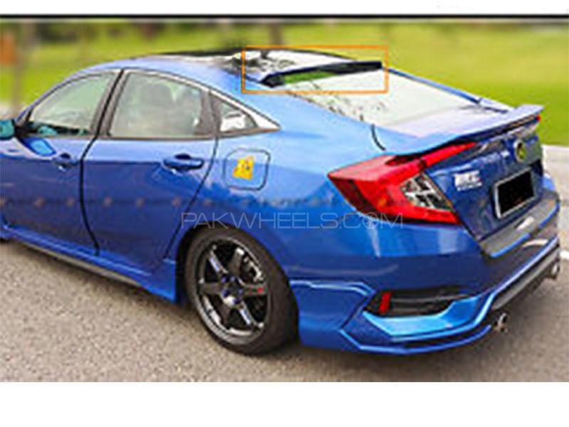 Honda Civic Plain Roof Spoiler Matte Black - 2017 To On in Karachi