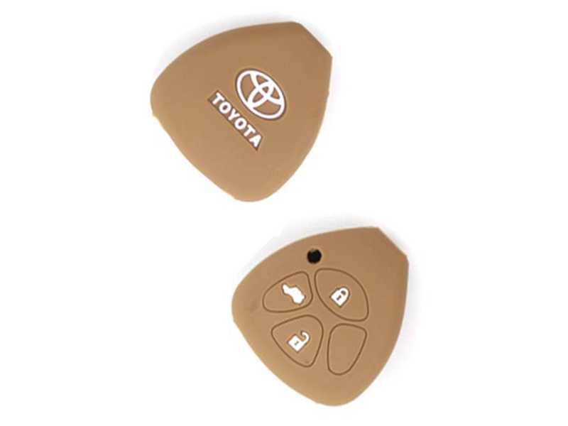 Silicon Key Cover For Toyota Camry 2013-2014 - Brown in Karachi