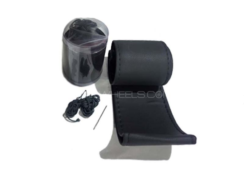 Black Leather For Steering Wheel Image-1