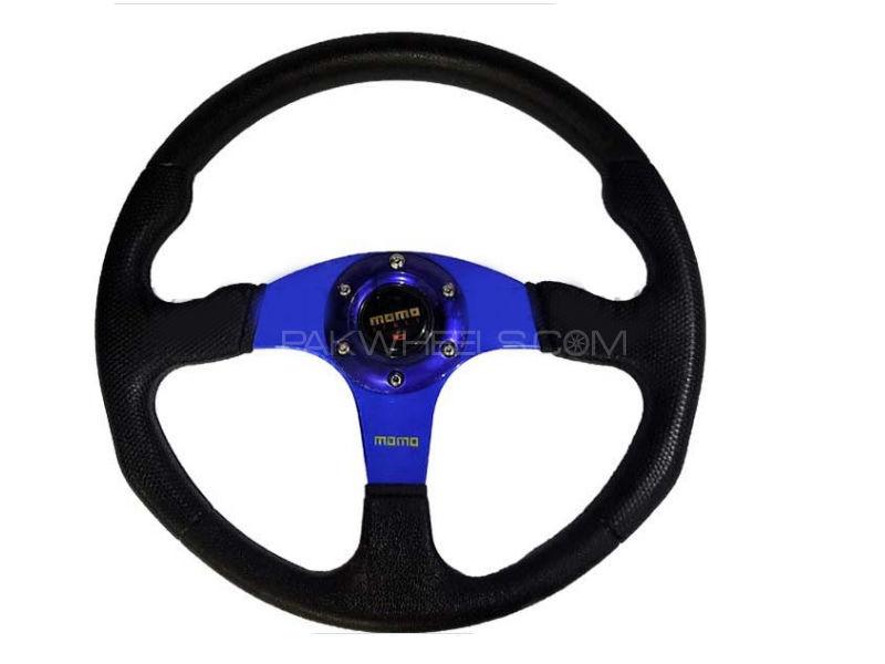 Universal MOMO Steering Dark Blue Image-1