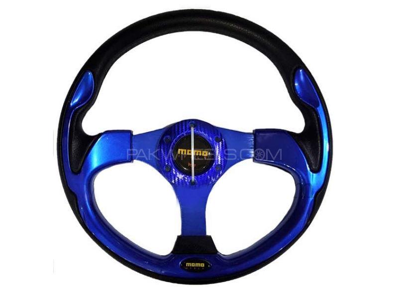 Universal MOMO Steering Half Blue Image-1