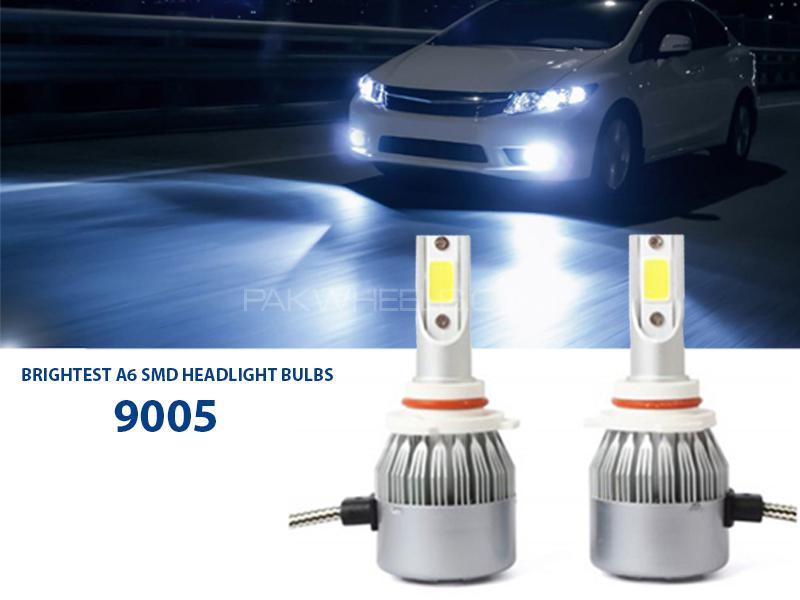 Brightest A6 SMD Headlights Bulb - 9005 Image-1
