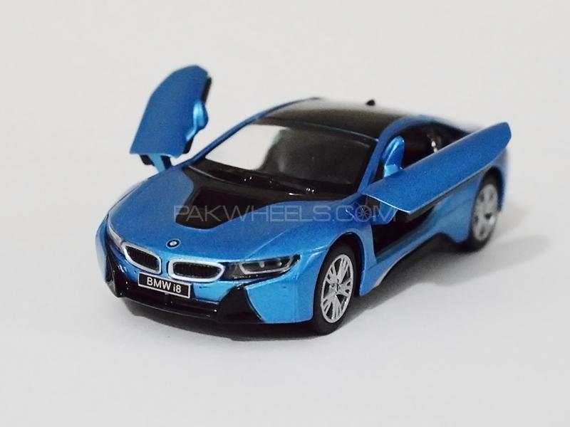 KinSmart Metal Body Die Cast BMW i8 - Blue in Lahore