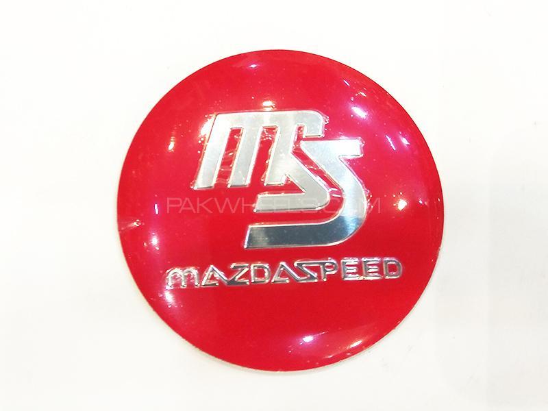 Mazda Speed Rim Cap Sticker  Image-1