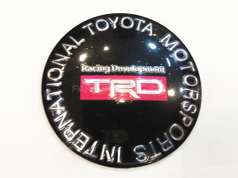 TRD Rim Cap Sticker - Red in Karachi