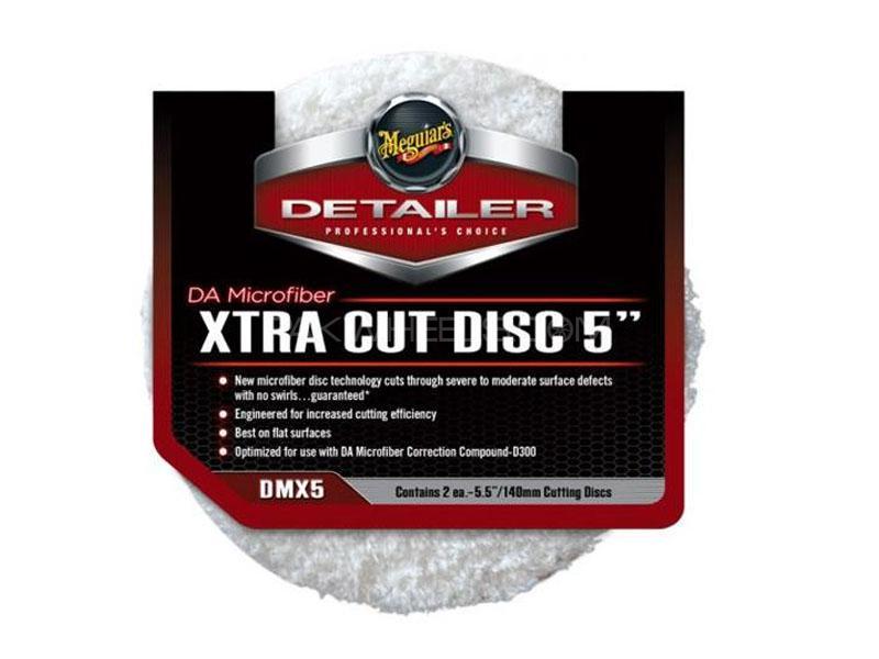 """Meguiar's Da Microfiber Xtra Cut Disc 5"""" (2 Pack) Image-1"""