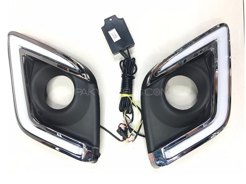 DRL Fog Lamp Cover For Toyota Hilux Revo 2016-2018 in Karachi