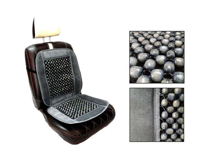 Car Moti Wooden Beads Seat - Grey  in Karachi