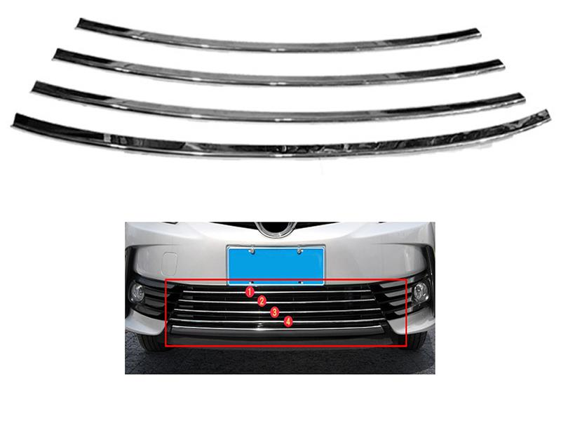 Front Bumper Left Chrome Moulding FIAT 500 C 2007