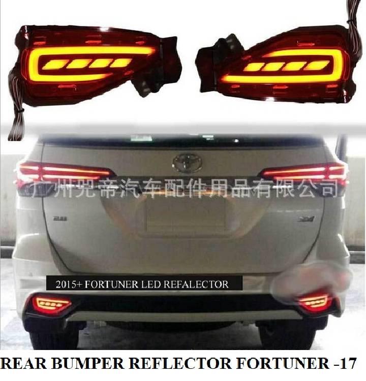FORTUNER BACK BUMPER LED REFLECTOR Image-1