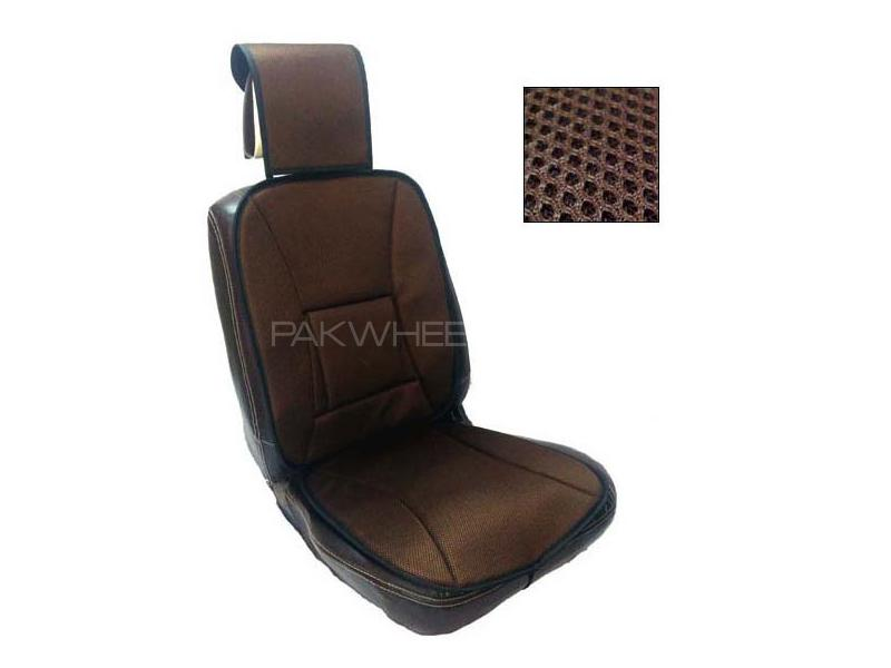 Universal Net Car Seat Cover Brown 1Pc Image-1