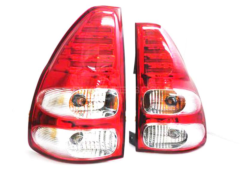 LED Bar Style Tail Lamp Clear Red Made in Taiwan For Toyota Prado 2003-2009 in Karachi