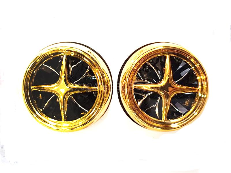 Alloy Wheel Vent Clip Air Freshener - Gold Image-1