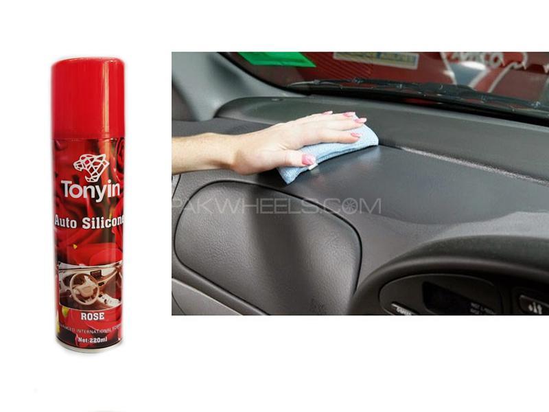 Tonyin Auto Silicon Dashboard Shine Spray Rose in Lahore