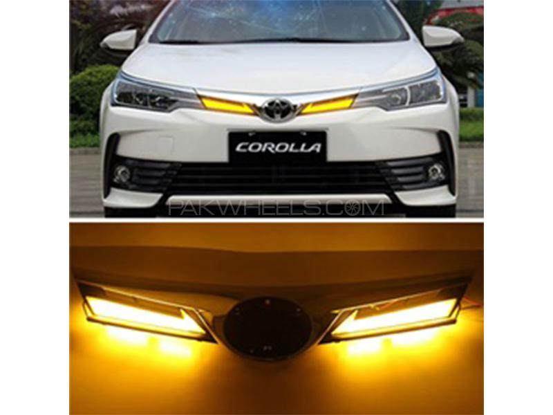 Front Grill With LED For Toyota Corolla 2018-2019 Facelift Image-1