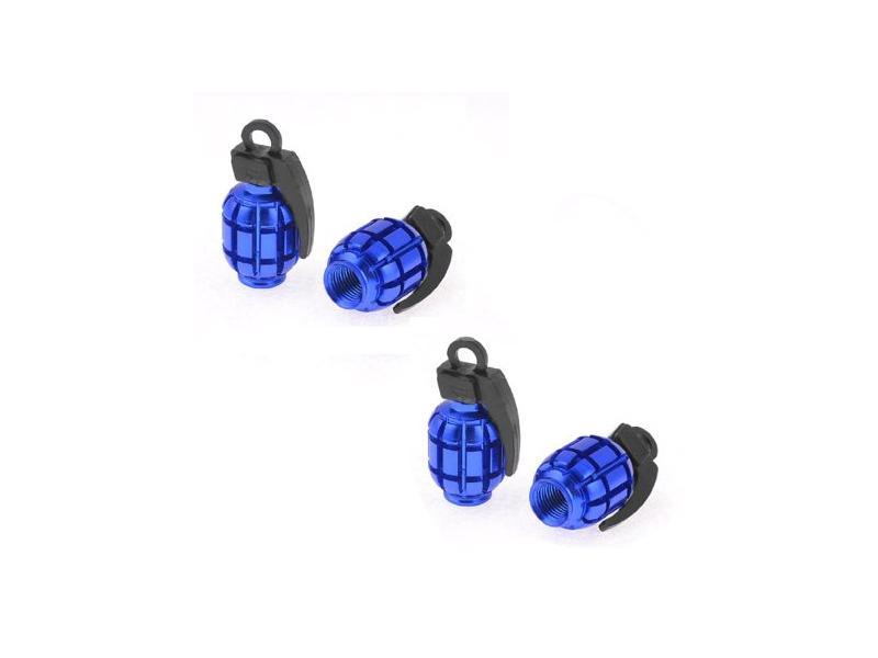 Grenade Tire Nozzle Cap Blue in Lahore