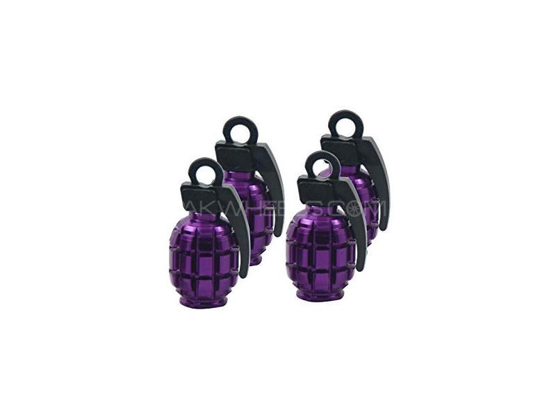 Grenade Tire Nozzle Cap Purple Image-1