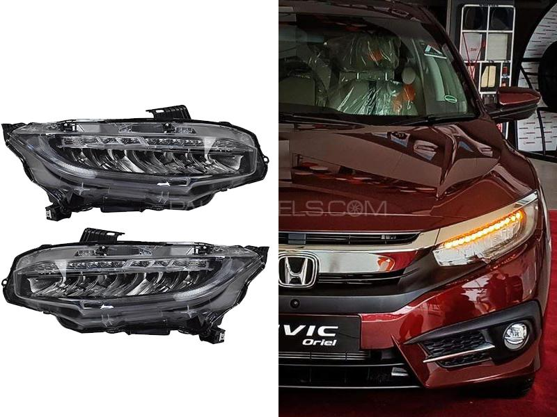 Led Sequential Head Light For Honda Civic 2016-2019 Image-1